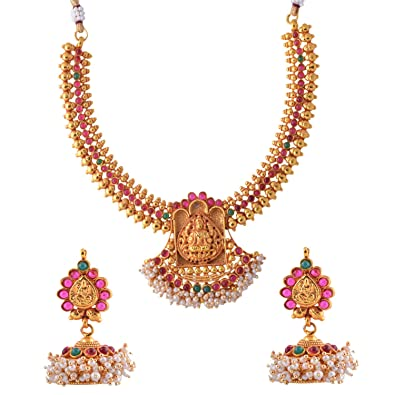 Buy Ganapathy Gems 1 Gram Gold Plated Traditional South Indian