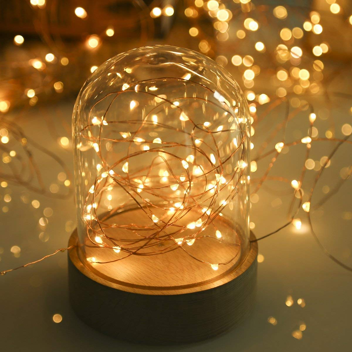 TryLight LED String Lights, 20M 200 LED Copper Wire Fairy Lights with Wireless Remote Control, Battery Powered, Waterproof for Patio, Garden, Home, Pathway, Party, Wedding [Energy Class A++]