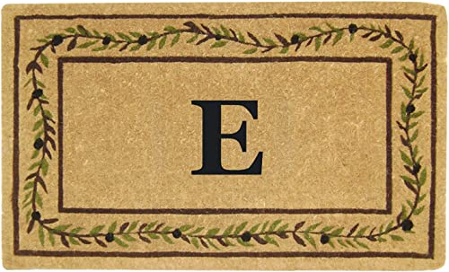 Heavy Duty 22 x 36 Coco Mat Olive Branch Border, Monogrammed E