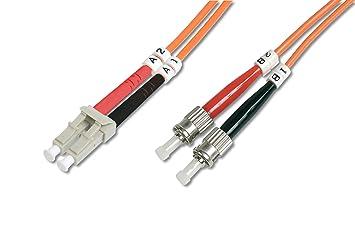 DIGITUS DK-2531-02 2m LC ST OM2 Naranja cable de fibra optica -