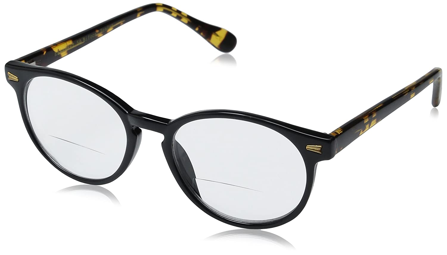 dda25a2775fa Amazon.com: Readers.com Bifocal Reading Glasses: The Actor Bifocal, Trendy  Round Bifocal Reader for Women and Men - Black and Tortoise, 1.25: Shoes