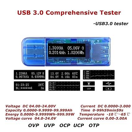 Bank 3 Meter.Amazon Com Capacity Tester Usb 3 0 Oled Comprehensive