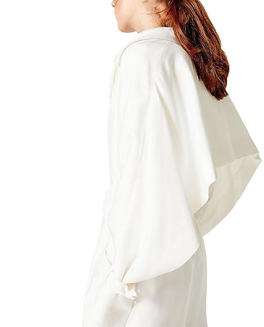 Uterque - Abrigo - para mujer blanco Small : Amazon.es: Ropa y accesorios