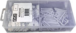 Mobile Home/RV Ceiling Rosette Buttons with Rosette Screws-50 Count