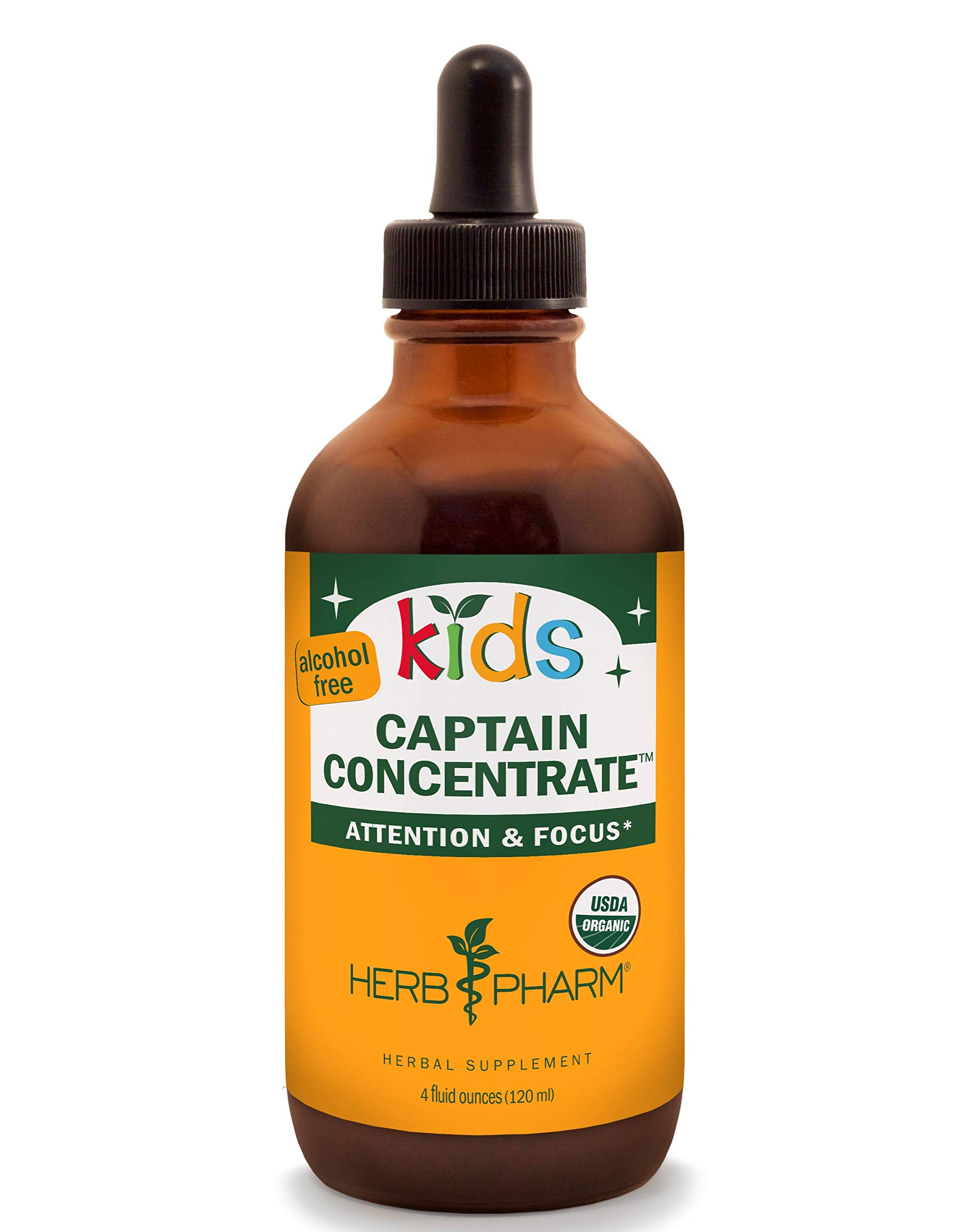 Herb Pharm Kids Certified-Organic Alcohol-Free Captain Concentrate Liquid Herbal Formula, 4 Ounce