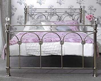 chrome bedroom furniture. Contemporary Furniture Sonita Chrome Solid Metal Bed Frame Bedroom Furniture 4FT6 5FT 5ft  Kingsize  To Chrome Bedroom Furniture
