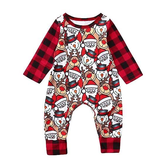 ❤ Tefamore Bebe Niña Monos Body Bebe Muñeco de Nieve de Navidad ...