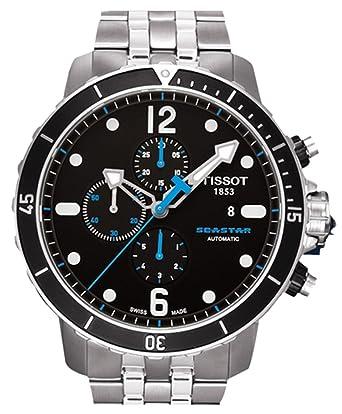 tissot seastar automatic chronograph black dial men s watch t066 tissot seastar automatic chronograph black dial men s watch t066 427 11 057 00