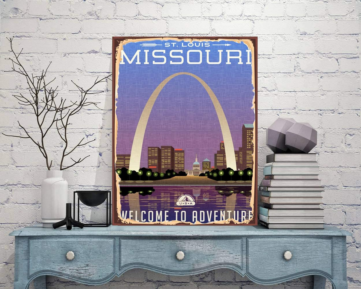 Lplpol Aluminum Sign,Welcome Sign Missouri Sign Missouri Metal Sign State Sign City Sign Town Metal Sign Rustic Metal Print Rustic Sign Traveler Gift Office Sign,Decoration Sign,12x18 Inch