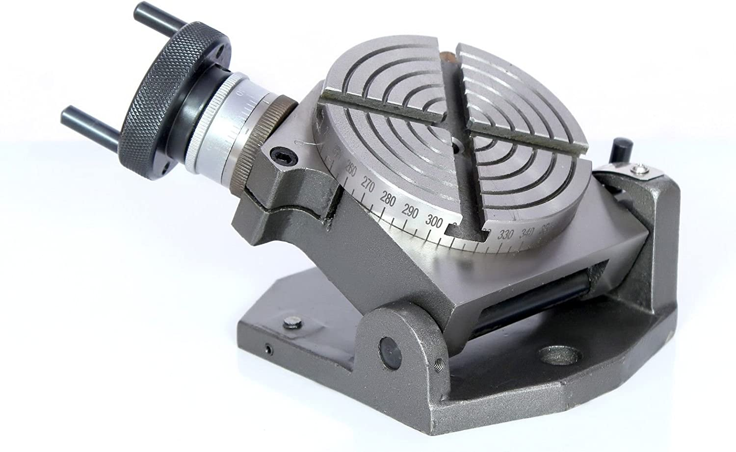 """4/"""" Inches Engineering 100 mm Metal Working Tilting Rotary Table for Milling"""