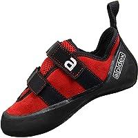 ALPIDEX Kletterschuhe Leder mit Klettverschluss, gute Kantenstabilität, leichter Downturn, leichte Vorspannung, erhältlich in den Größen 36-49