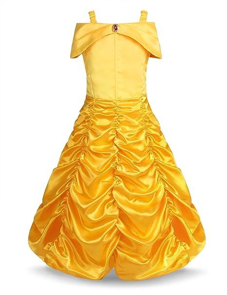 Freebily Vestido de Princesa Fiesta Bautizo para Bebé Niña (18 Meses-10 Años)