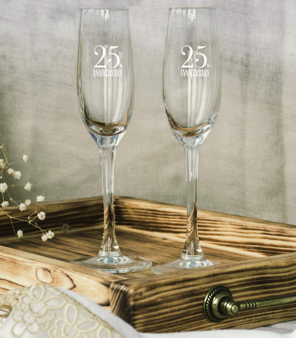 Favours profumatore Glass Bears Couple and Box Wedding Anniversary