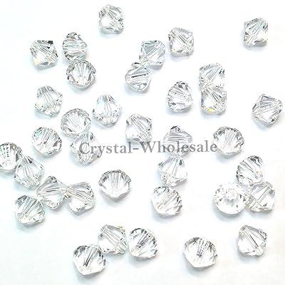 144 pcs Swarovski crystal 5328 / 5301 4mm Crystal (001) Genuine Loose Bicone Beads **FREE Shipping from Mychobos (Crystal-Wholesale)** by Swarovski Elements