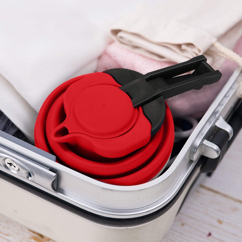 1.2L avec Gratuit Gift-Silicone Entonnoir ext/érieur Camping Bouilloire de Voyage Pliable HULISEN Portable en Silicone Pliable Bouilloire