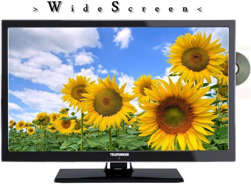 Telefunken L22F130X LED Televisor 22 pulgadas 55 cm, TV con DVB-S /S2, DVB-T, DVB-C, DVD, USB, 230V +12Voltios, Clase de eficiencia energética A: Amazon.es: Electrónica