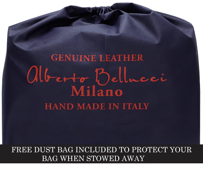 Luggage Depot USA, LLC Men's Alberto Bellucci Italian Leather Express Satchel D. Brn Laptop Messenger Bag, Dark Brown, One Size by Luggage Depot USA, LLC (Image #7)