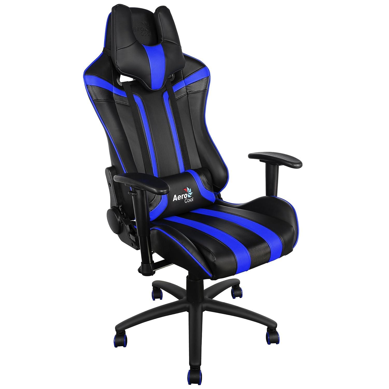 Aerocool AC120 - Silla gaming profesional, ergonómica, altura regulable, azul: Amazon.es: Hogar