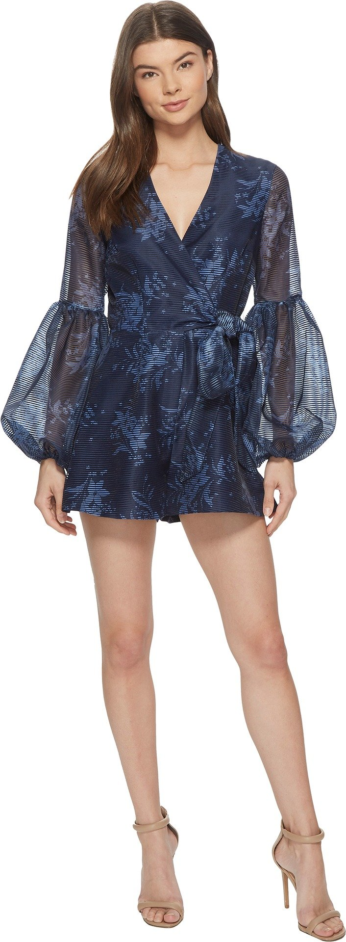 Keepsake The Label Women's Stand Tall Playsuit Navy Stencil Floral MD (US 4-6)