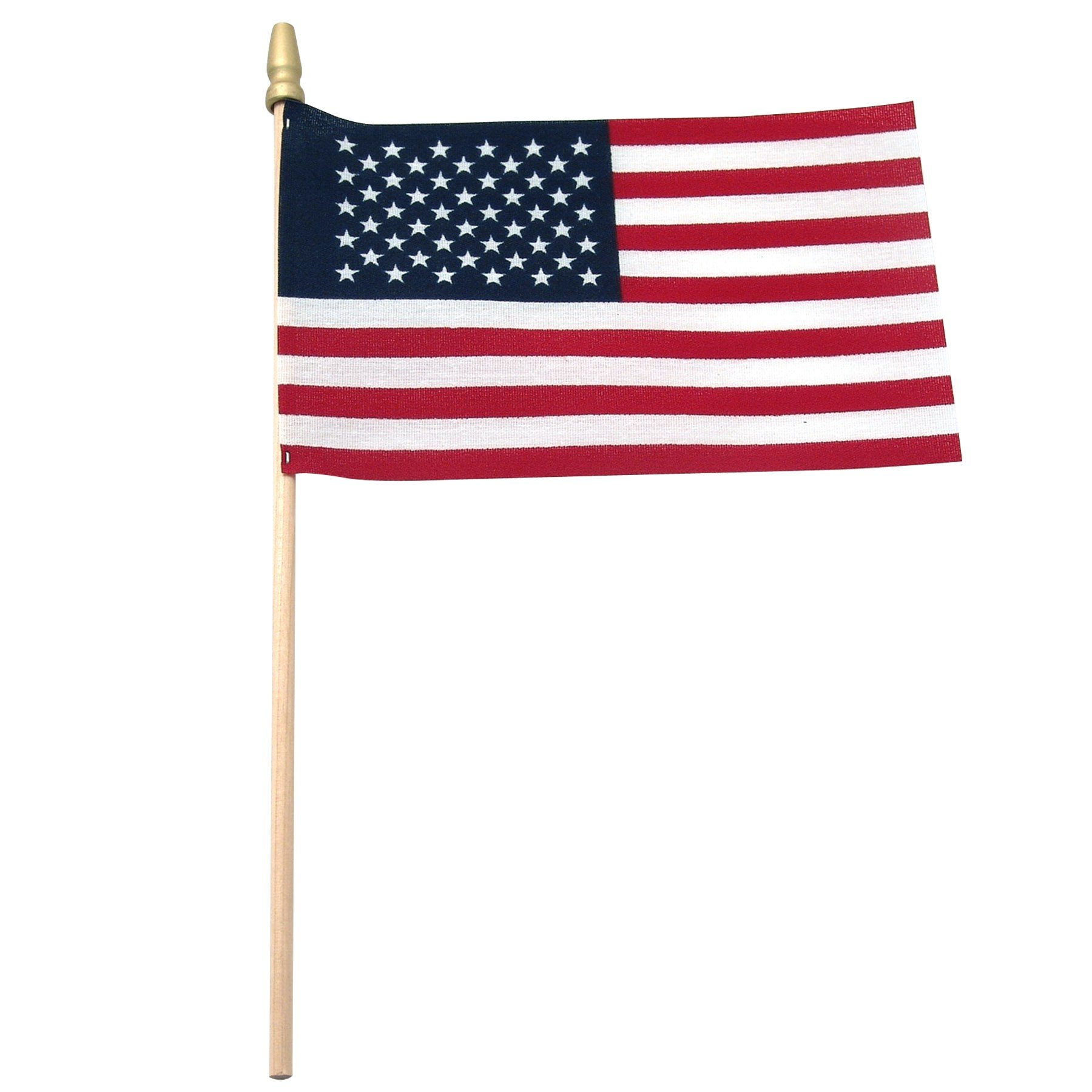 USA Stick Flag 4'' x 6'' Standard with Spear Tip (500 PK)