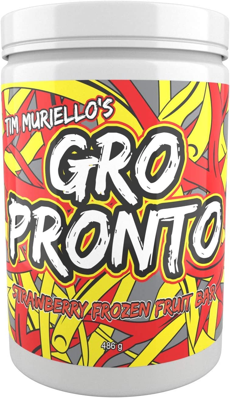 Tim Muriello s GROPRONTO BCAA – EAA – Enzymes – Strawberry – Muscle Recovery – Intra Workout – Post Workout – Super Delicious – High Leucine – Essential Amino Acids – Muscle Repair Growth Powder