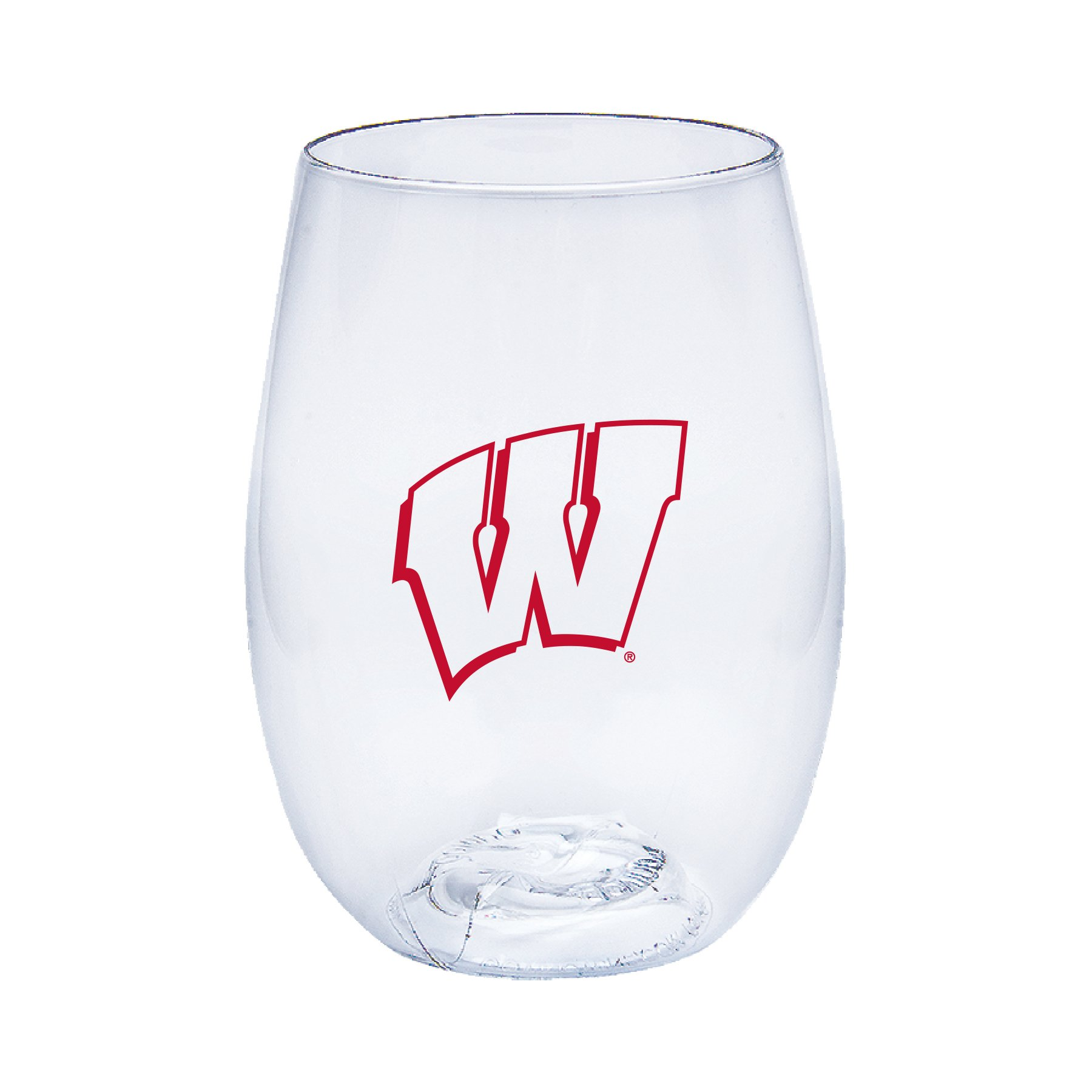 Neil Varsity Wisconsin Badgers Govino Shatterproof Wine or Beverage Glass