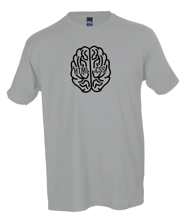 Jubilant Cargo Coders Right Brain//Left Brain 100/% Cotton Graphic T-Shirt