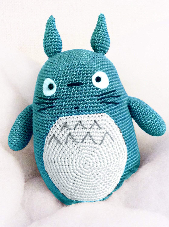 Totoro, Blau erstaunliche Puppe. Häkelpuppe für Kinder und Erwachsene. Geschenkidee. Puppe. handgemachte gepolsterte Puppe.