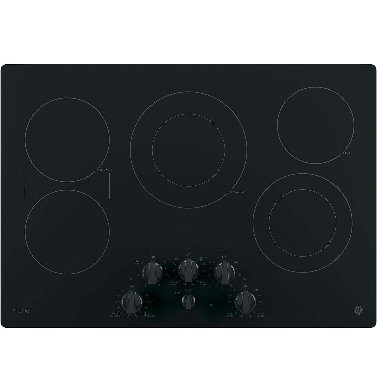 GE PP7030DJBB Profile 30' Black Electric Smoothtop Cooktop