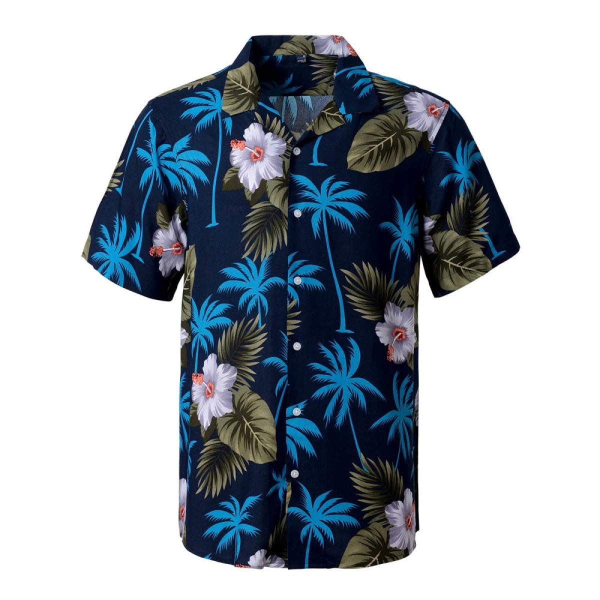 Aloha Shirt Men Mens Short Sleeve Beach Hawaiian Shirts Summer Cotton Casual Floral Shirts Mens Clothing