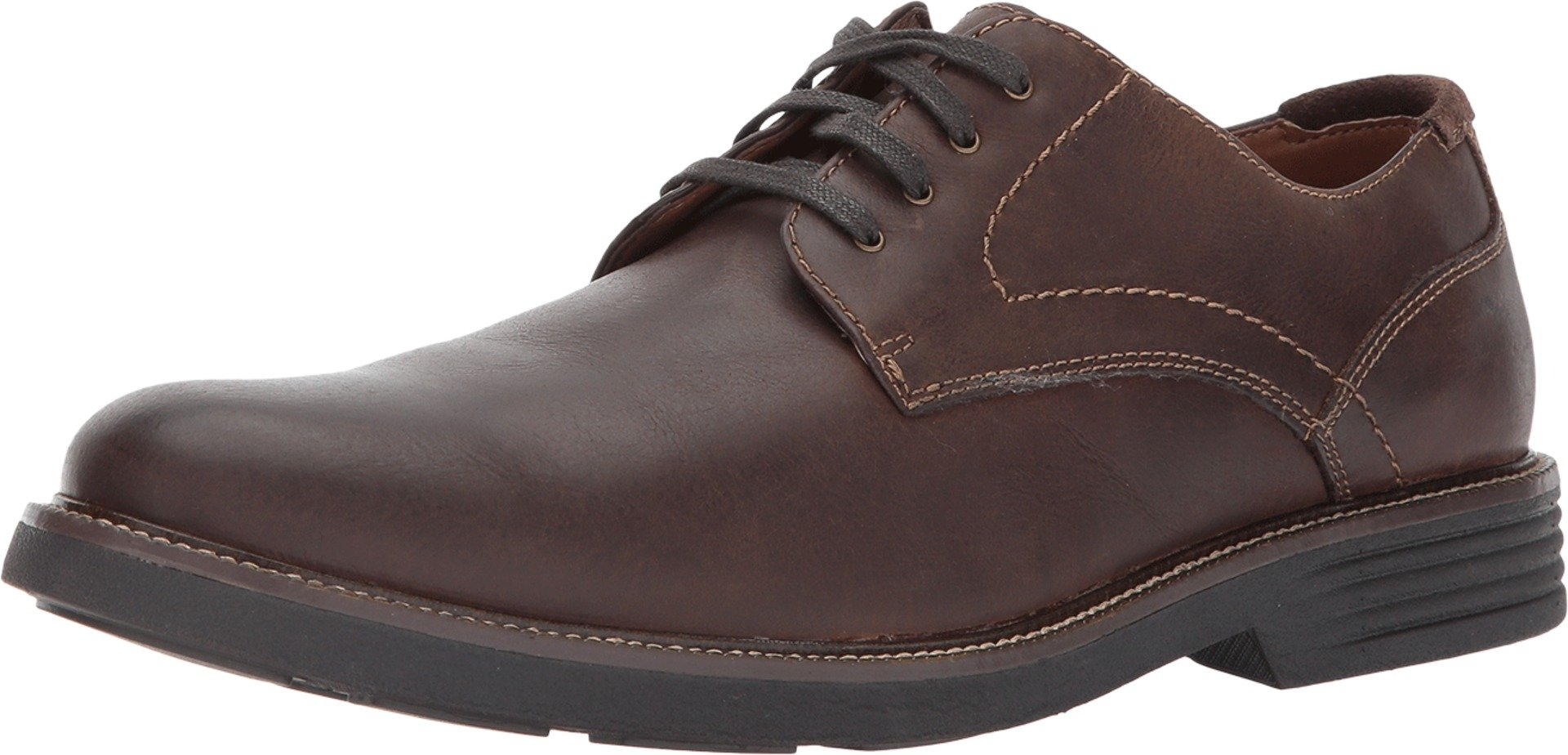 Dockers Mens Parkway Leather Dress Casual Oxford Shoe with NeverWet, Dark Brown, 10.5 W