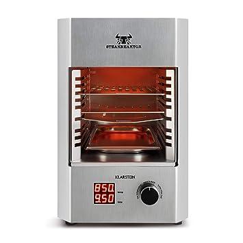 Klarstein Steakreaktor 2.0 - Potente Grill , Parrilla eléctrica , Grill de alta temperatura , 850°C , Placas cerámicas , LED , Hecho en Alemania , ...
