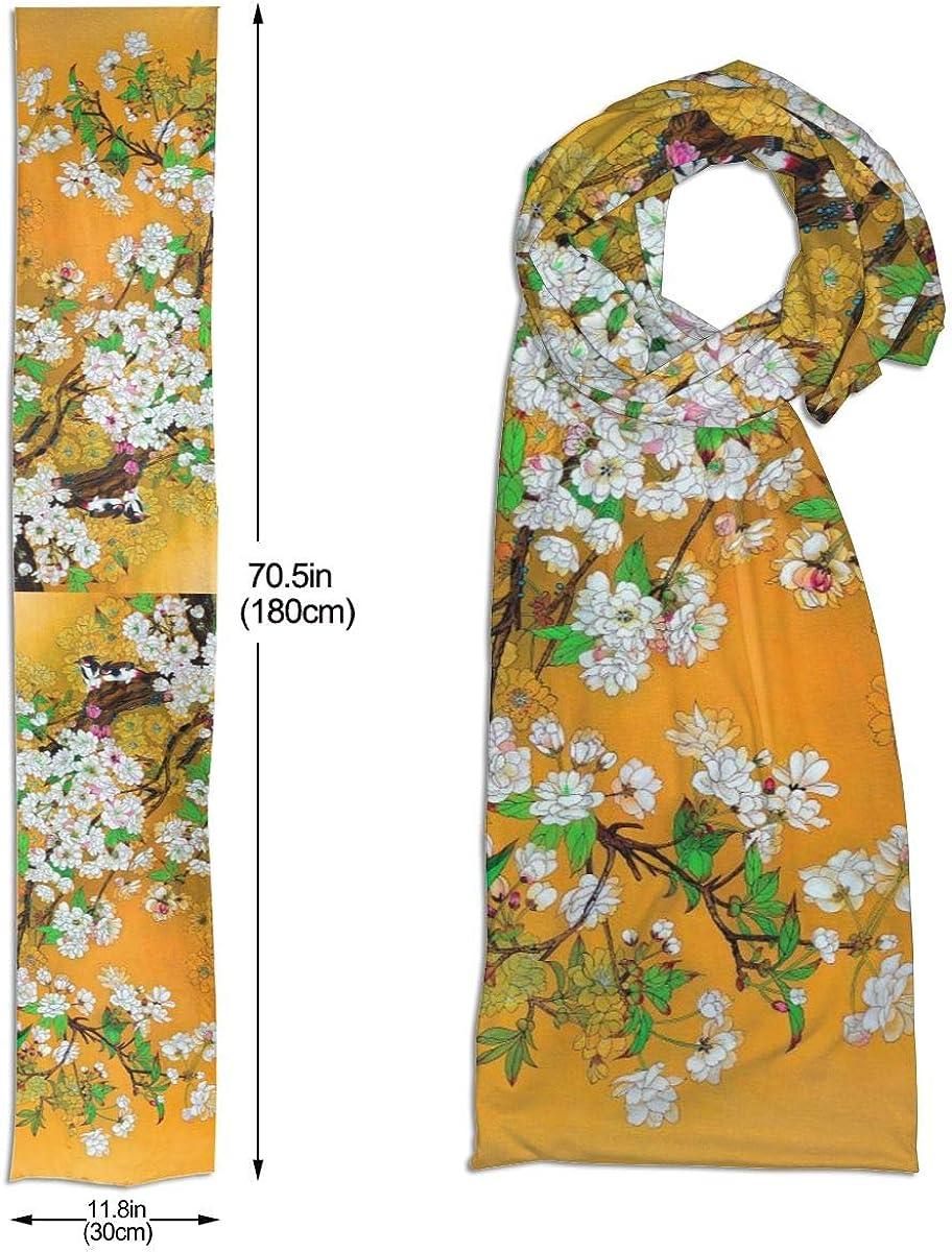 Create Magic Seaside And Blue Sky Long Fashion Scarf Made Of Imitation Cotton Fabric Elegant And Fashionable Any Costume