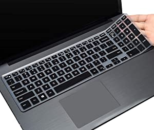 "CaseBuy Keyboard Cover for Dell Latitude 3500 15.6"" Notebook Only, Dell Latitude 3000 3500 Keyboard Silicon Protective Skin, Black"