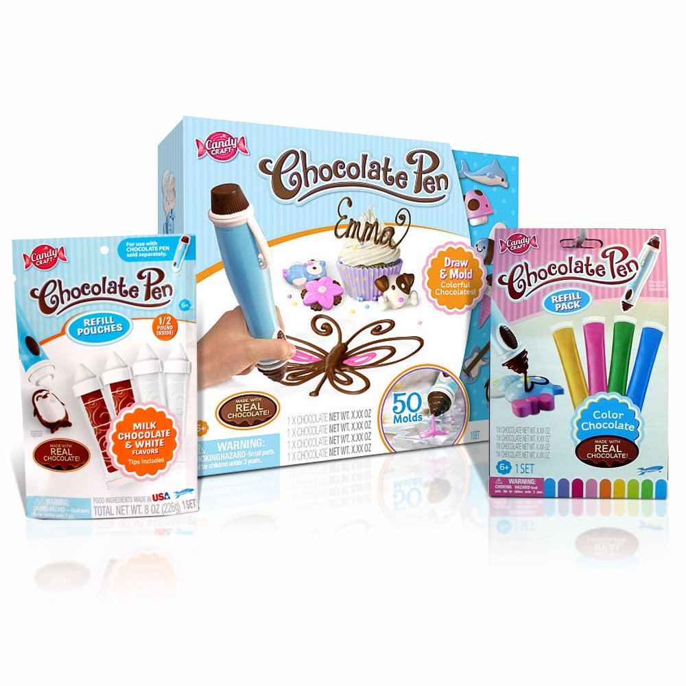 Buy Candy Craft Chocolate Pen Kit + 2 Refill Pouch Packs Bundle ...