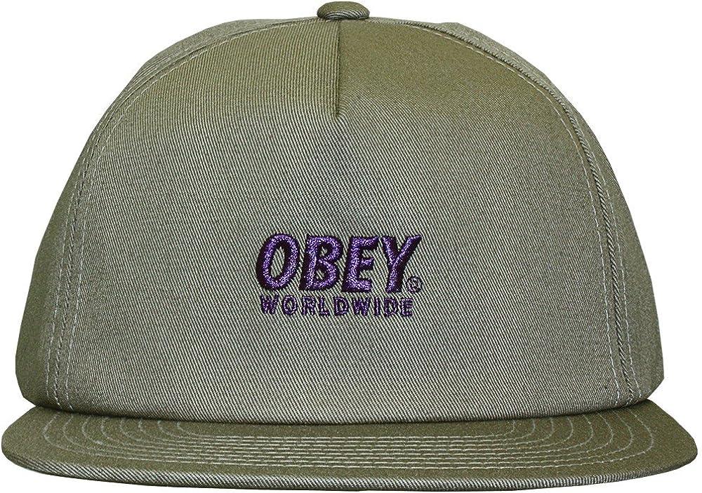 Obey – Gorra con Visera Plana para Hombre Portland Snapback ...