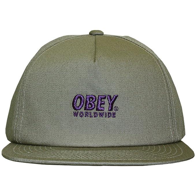 Obey - Gorra con Visera Plana para Hombre Portland Snapback - Elephant: Amazon.es: Ropa y accesorios