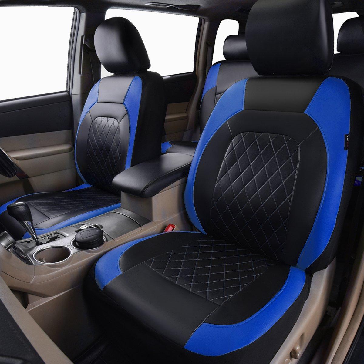 Autositz Schutzbezug Universal PU Leder Auto-Sitzbez/üge Set Auto-Schonbez/üge f/ür die Vordersitze mit Airbag