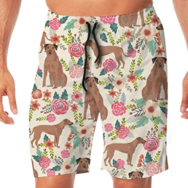 0acefa1e53944 Rhodesian Ridgeback Floral Dog Breed Unique Pure Breed Beige_482 Men Swim  Trunks Surf Beach Holiday Party Swim Shorts Beach Pants: Amazon.co.uk:  Clothing