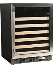 """Azure 24"""" Wine Cooler with Stainless Steel Trim Glass Door, A124WC-S"""
