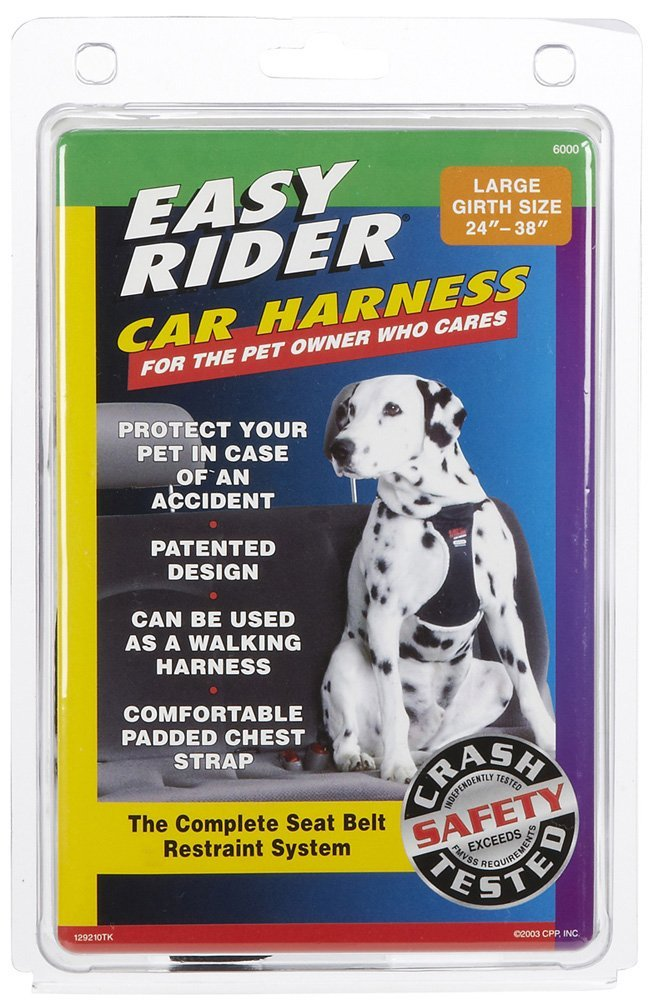 LG BLK Car Harness by Coastal Pet