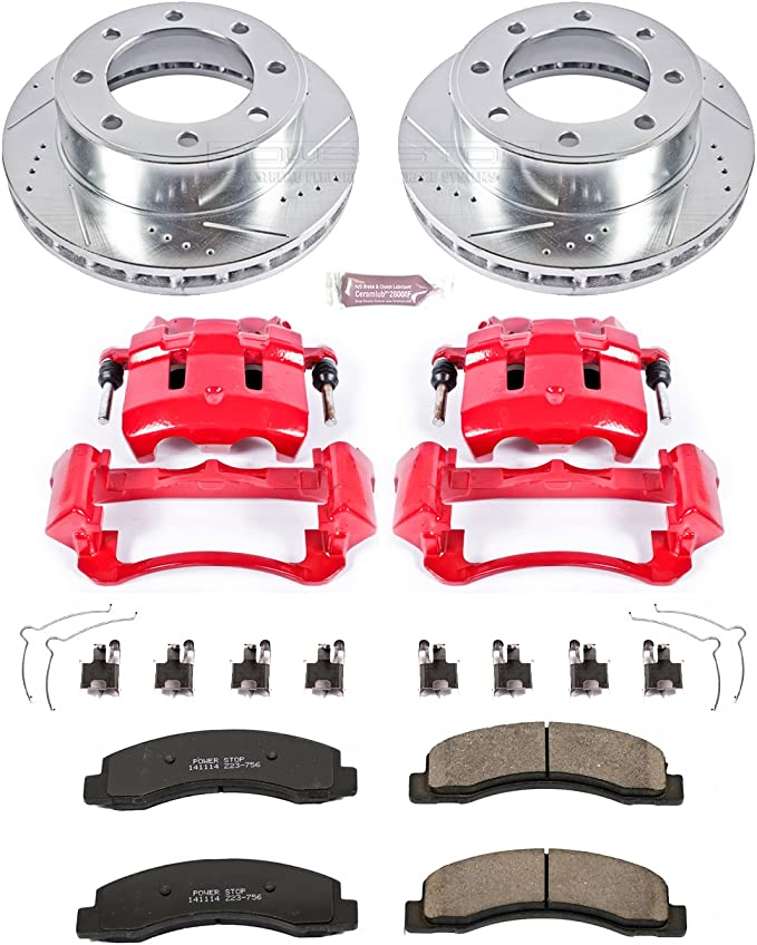 Rear Only Power Stop KC1890 1-Click Performance Brake Kit with Calipers