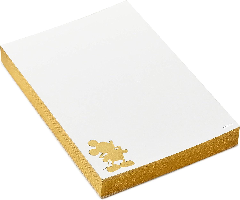 Hallmark Signature Disney Notepad (Gold Mickey Mouse Silhouette)