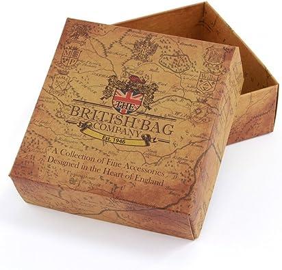 Tradicional Harris Tweed y piel Joyero caja para gemelos, relojes ...