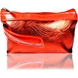 adbeni Women's Cosmetic Makeup Pouch (Red)