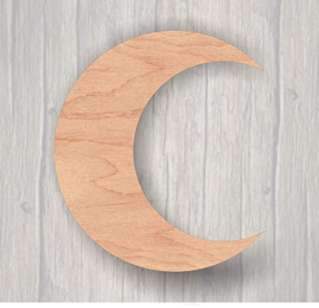 Amazon.com: MarthaFox Crescent Luna inacabada madera ...