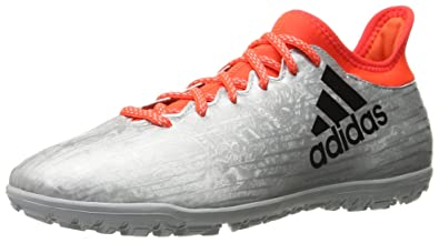 adidas Men's x 16.3 tf Soccer Shoe, Silver Metallic/Black/Infrared, 9