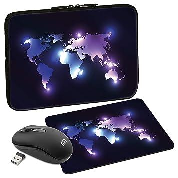 PEDEA – Bolsa para ordenador portátil, diseño carcasa Funda para 39,6 cm Dark