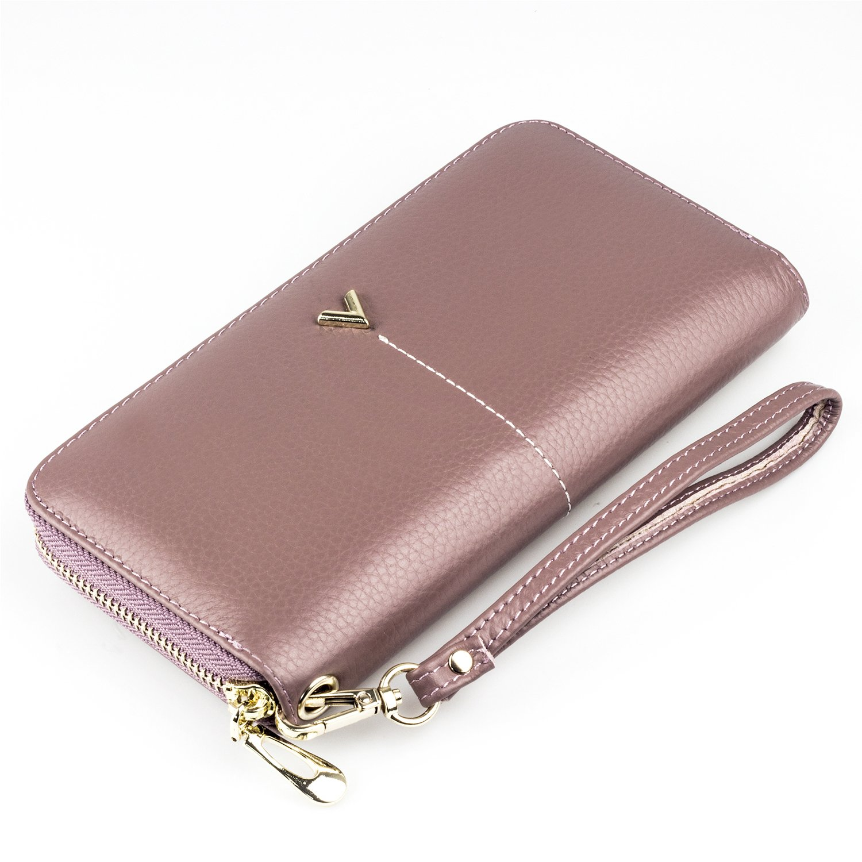 145288ffb9c06 BAGZY Damen weich aus Leder Geldbörse Handtasche Brieftasche Handy  Geldbeutel Mädchen Frau Kreditkartenetui Geld-Organisator Unterarmtasche  Frauen Geschenk ...