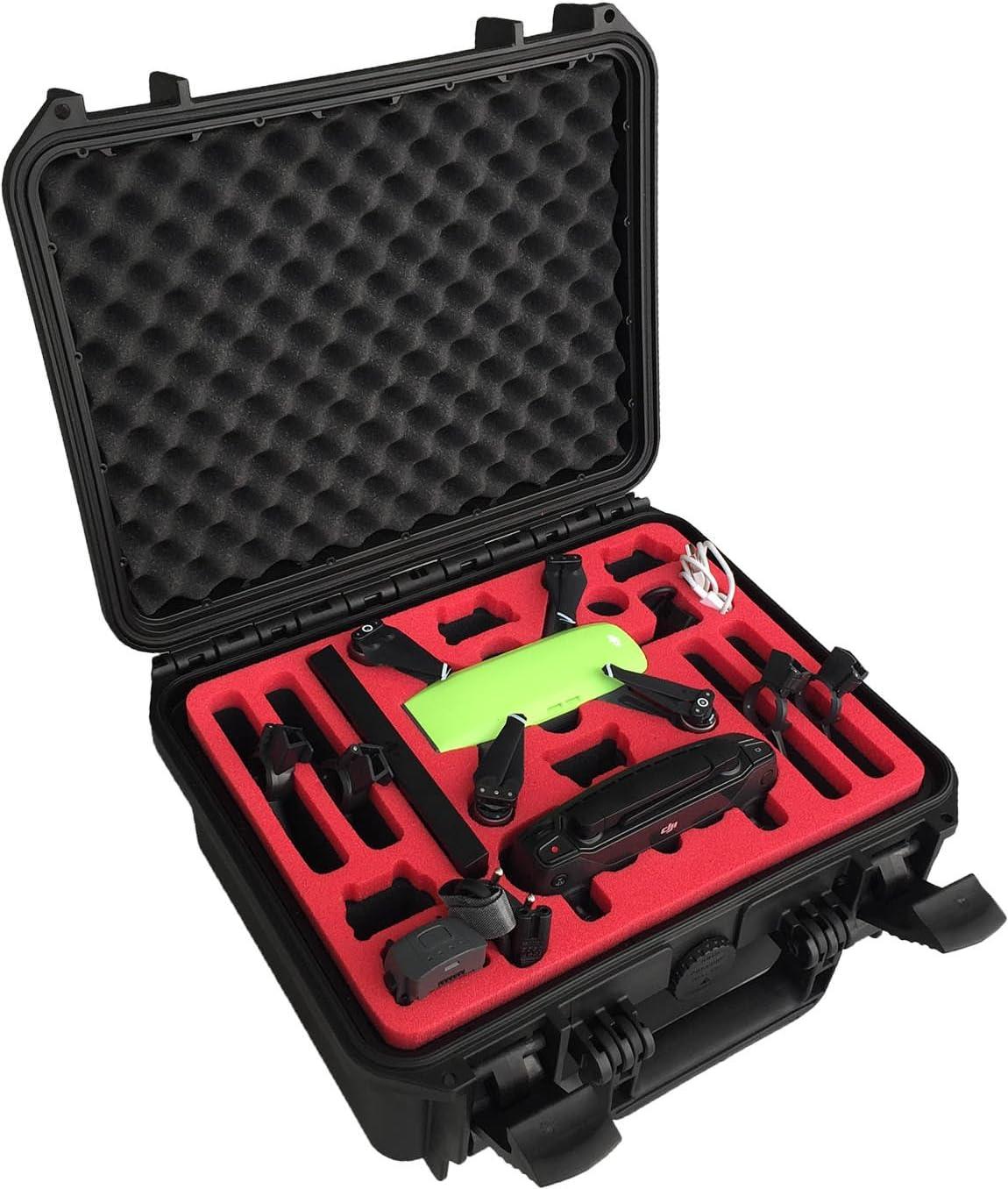Maleta Professional Hecha para dji Spark (edición Fly More Explorer) con Espacio para 6 baterías y Accesorios (Edición compacta) by MC-CASES